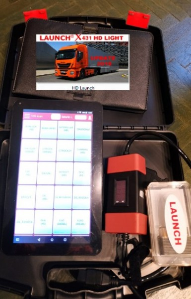 Kit Tester Diagnoza Auto Camioane / Tiruri Launch HD Light X431 12/24 Volti