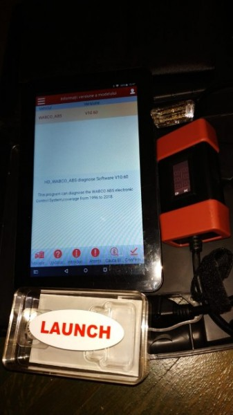 Kit Tester Diagnoza Auto Launch HD Light X431 12/24 Volti Camioane / Tiruri