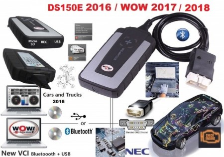 NOU !!! Tester Auto DELFI 3 v.2017 + WOW 2018 Versiunea Original Data Bluetooth limba romana Tester Profesional Multimarca Turisme & Camioane + Cutie Transport