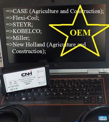 Original CNH DPA5 EST v.2020 pentru gama New Holland Kobelco, CASE, Steyr, Flexicoil, FK, O&K, Laptop Inclus in pret