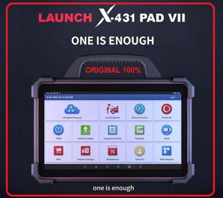 Launch original X-431 PAD VII PAD 7 Tester Auto Profesional pentru programari, codare online și calibrare ADAS Instrument complet de diagnosticare, codificare și programare in service