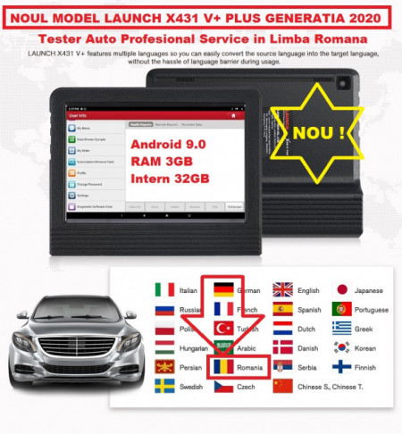 Promotie !! Noul Launch X431 V+ PRO4 PLUS V.2020 Wifi/Bluetooth Tableta Toughbook 10.1'' Tester Auto Profesional Service