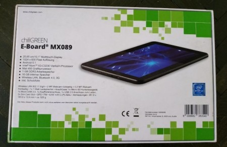 "Tableta E-board MX-090 10,1"" 25,65 cm, Intel Quad-Core, 1 Gb RAM, 16 Gb Intern"