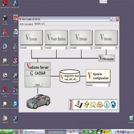 Economic Kit Mercedes MB STAR LIGHT MDI Connect + Laptop Full Activat in Romana v2019