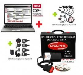 Promo ! Delphi DS150e Noul Vci2 Romana cu Bluetooth + LAPTOP => Tester Multimarca in Limba Romana pentru Turisme & Camioane + Cutie Transport Delphi