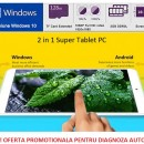 Tableta Dual Boot Windows 10 + Android 4.4, Intel, Quad Core, 8 inch, IPS Screen, 2GB/32GB, Bluetooth, HDMI