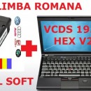 Kit Vag Com VCDS HEX Unlimited 20.4 Engleza, 19.6X in Romana Kit + laptop activat 2020