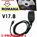 Cablu interfata diagnoza auto gama Vag 16.8/17.8 Limba Romana Full Chip Data 100%