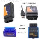 Interfata Diagnoza Universala ELM327 V1.5 (cu 25k80 chip) - Cablu OBD2 / Bluetooth