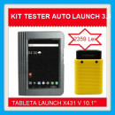 Kit Tester Auto Launch X431 cu Tableta originala V 10.1' v2021 + Interfata Easydiag 3.0 versiune service auto