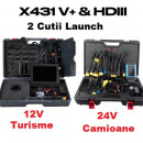 Promo Kit Complet Launch X431 V+ Turisme si Camione, ultimul model V+ Wifi/Bluetooth, Versiune Soft Profesional Service
