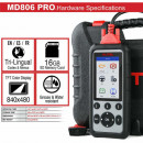 Autel MaxiDiag MD806 Pro tester auto multimarca full Systems usor de utilizat, up-date 2019 !