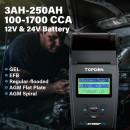 Tester AUTO baterii Topdon BT500P cu imprimanta incorporata , 12-24V, model profesional