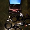 Kit tester auto Mercedes Mb Star C3 + Laptop Militar Xfr D630 12/24V, model profesional service