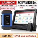 Tester auto multimarca Launch HD3.0 X431 V PRO4 Kit Complet Turisme, Autoutilitare 12V si Camioane 24V