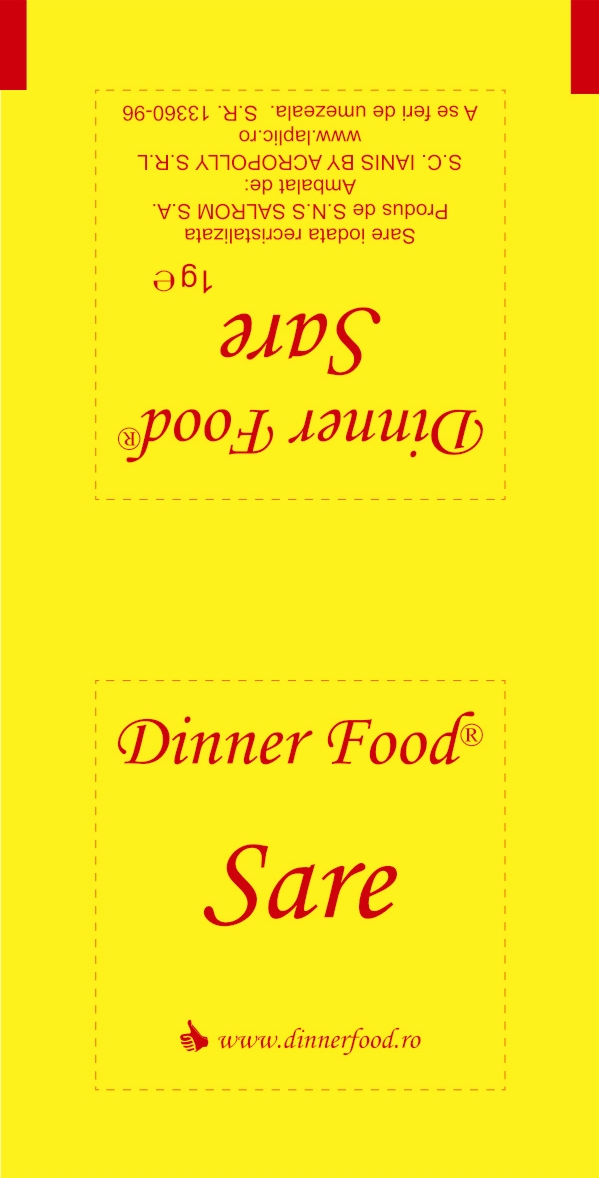 Plic sare 1g - personalizat Dinner food
