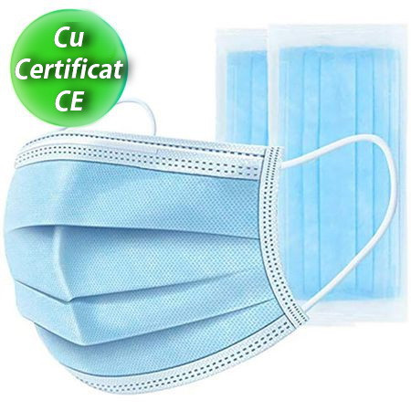 Masca protectie de unica folosinta -3 straturi - Set 50 buc
