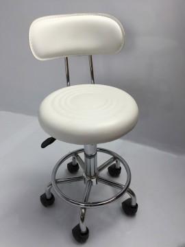 Scaun cosmetica cu spatar , scaun tehnician