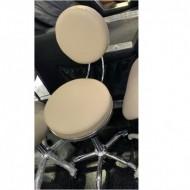 Scaun cosmetica cu spatar , scaun tehnician -