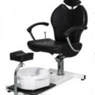 Scaun pedichiura cu spatar reglabil - Negru