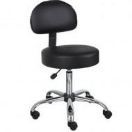Scaun cosmetica cu spatar , scaun tehnician - Negru