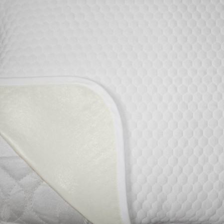 Protectie Saltea Royal Home, Soft Touch, Model Fagure, Impermeabila, Tricot Matlasat, 90 x 200 cm, Alb