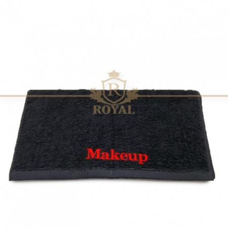 Prosop Fata 40x70cm 400gr/mp - Broderie Makeup - Negru - Spalare la 90 grade - Rezistent la clor