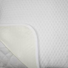 Protectie Saltea Royal Home, Soft Touch, Model Fagure, Impermeabila, Tricot Matlasat, 140 x 200 cm, Alb