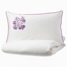 Lenjerie Ranforce -145 gr/mp - Matrimoniala +2 Fete de perna brodate - Model Floral
