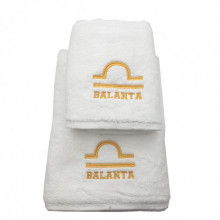 Set 2 Prosoape baie cu broderie Balanta, bumbac 100%