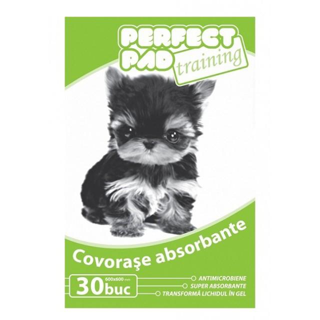 Covorase absorbante educationale pentru caini, Perfect Training Pad, 60 x 60 CM, 30 Buc