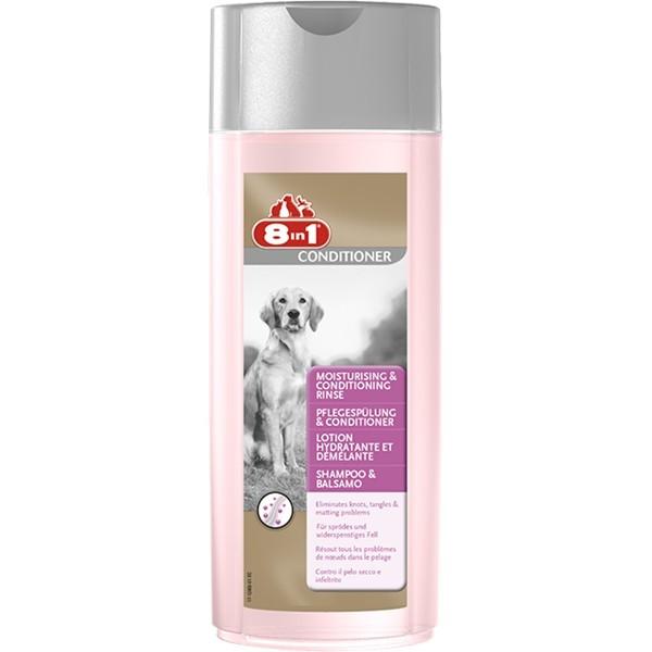 Sampon pentru caini, 8in1, Moisturising & Conditioning Rinse, 250 Ml