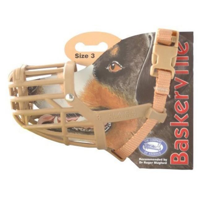 Botnita plastic pentru caini, Baskerville, NR.3