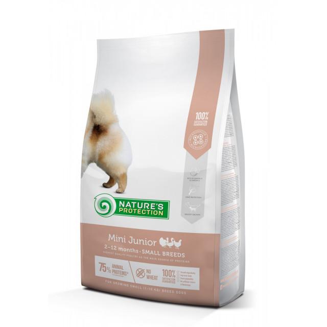 Hrana uscata pentru caini, Natures Protection, Mini Junior, 7,5 Kg