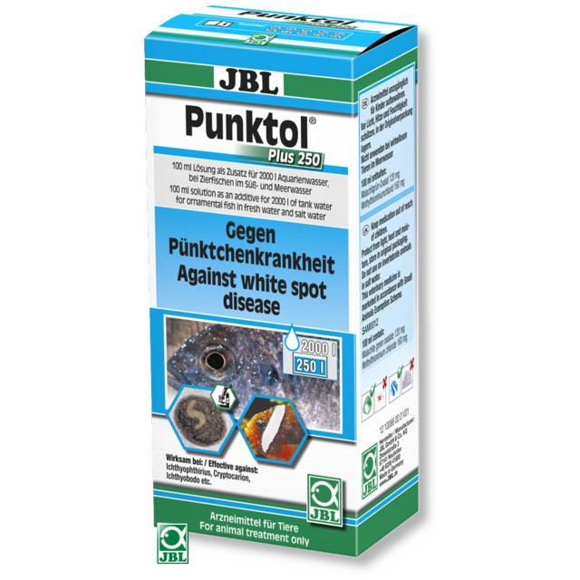 Tratament pentru pesti, JBL Punktol Plus 250 /100ml pentru 2000 l