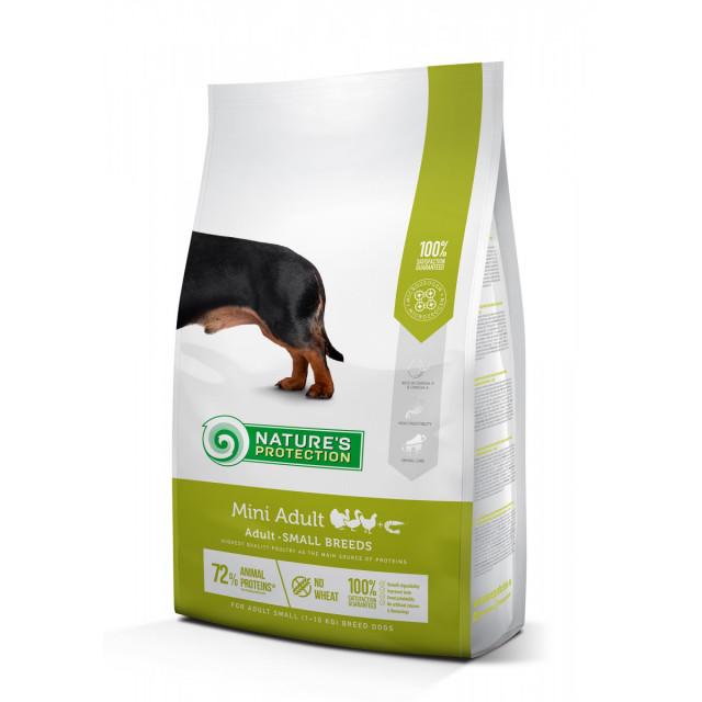 Hrana uscata pentru caini, Natures Protection, Mini Adult, 7,5 Kg