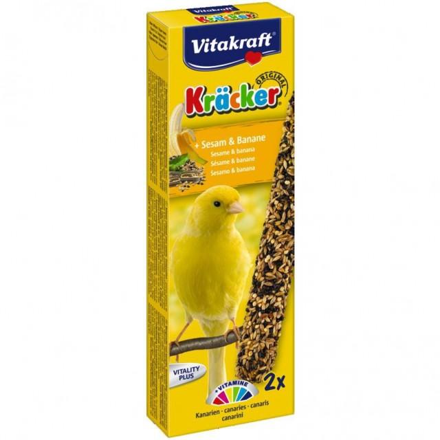Baton pentru pasari, Vitakraft, cu Susan si Banane pentru Canari, 2 Buc