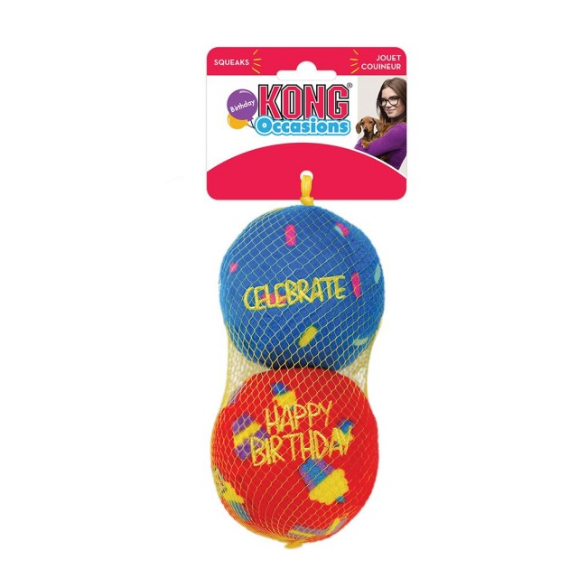 Jucarie caine, Kong, Minge Occasion Birthday Mediu, 2 Pack, RCC42E