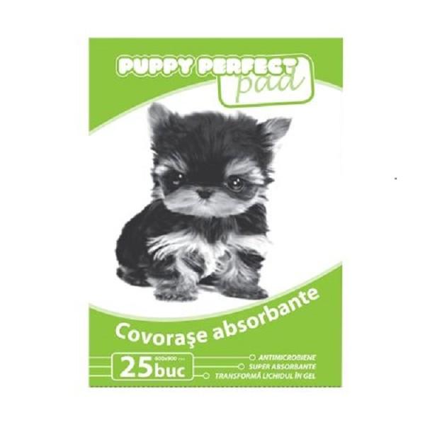 Covorase absorbante educationale pentru caini, Perfect Training Pad, 60 x 90 CM, 25 Buc