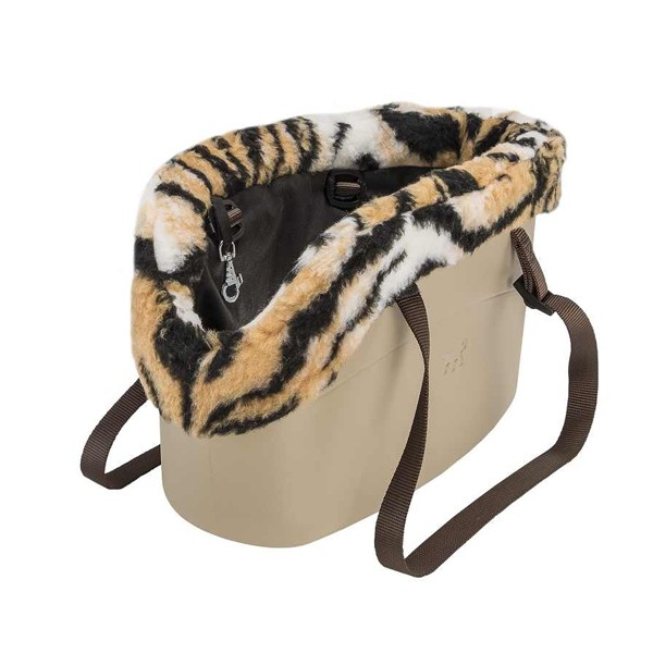 Geanta transport caini, Ferplast, With-Me Winter, Animal Print