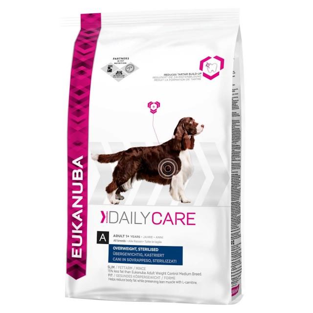 Hrana uscata pentru caini Eukanuba, Adult Supraponderal Sterilizat, 12 kg