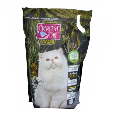 Nisip pentru pisici, Crystal Cat, Aloe Vera, 3.8 L