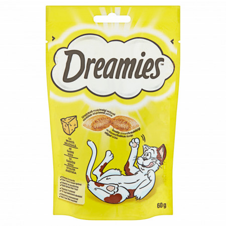 Recompense pentru pisici, Dreamies, Branza Delicioasa, 60G