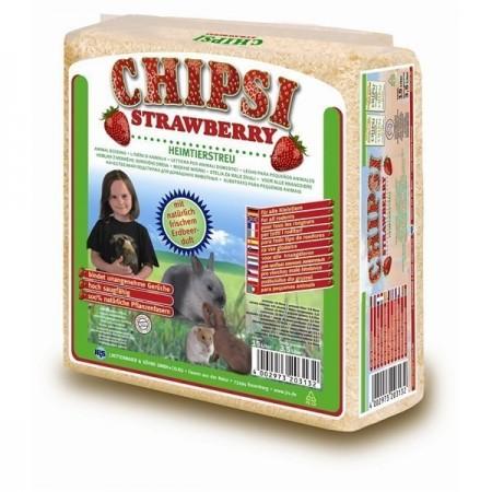 Rumegus pentru rozatoare, Chipsi Strawberry, 60 L