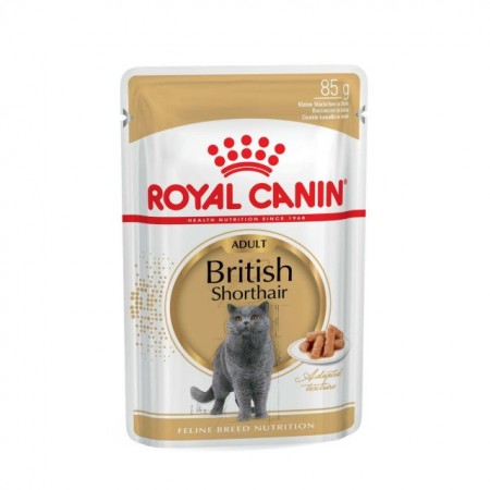 Hrana umeda pentru pisici, Royal Canin, British Shorthair Pouch, 85 g