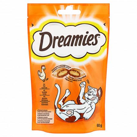 Recompense pentru pisici, Dreamies, Pui Gustos, 60G