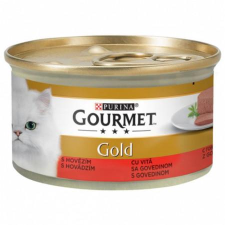 GOURMET Gold Mousse cu Vită, 85g