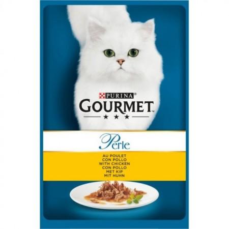 Hrana umeda pentru pisici, Gourmet Perle, Pui in sos, 85g
