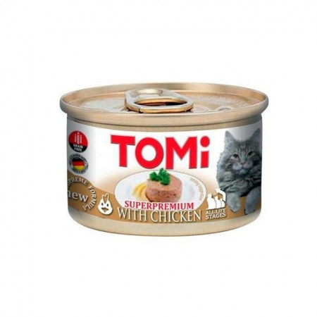 Hrana umeda pentru pisici, Tomi, Pui, SuperPremium, 12 x 85 G