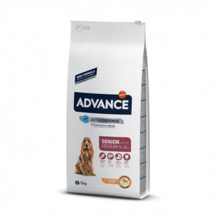 Hrana uscata pentru caini, Advance, Medium Senior, 12 Kg